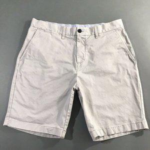 Tommy Hilfiger Mens Gray Chino Casual Shorts 33